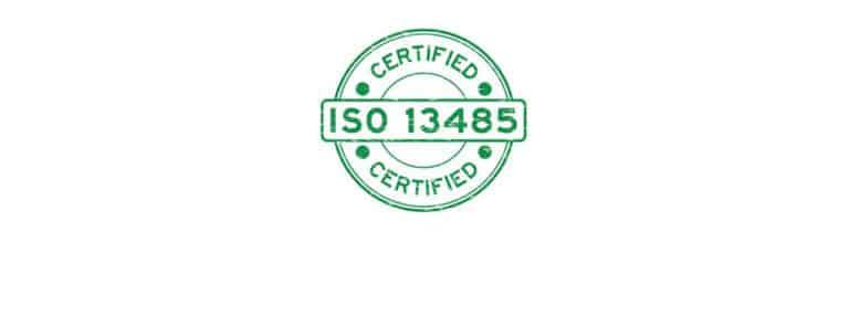 Zertifiert-Stempel ISO 13485