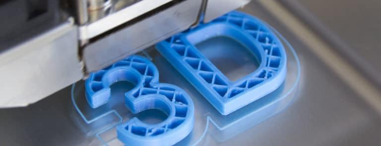 3D gedruckter Schriftzug