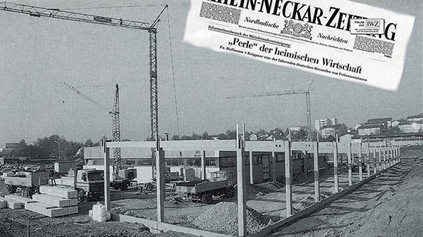Zeitungsausschnitt zum Neubau von H+K