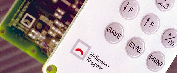 Folientastatur mit Hoffmann + Krippner Logo