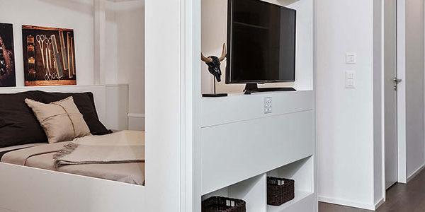 Mikroappartment mit mobilen Wänden