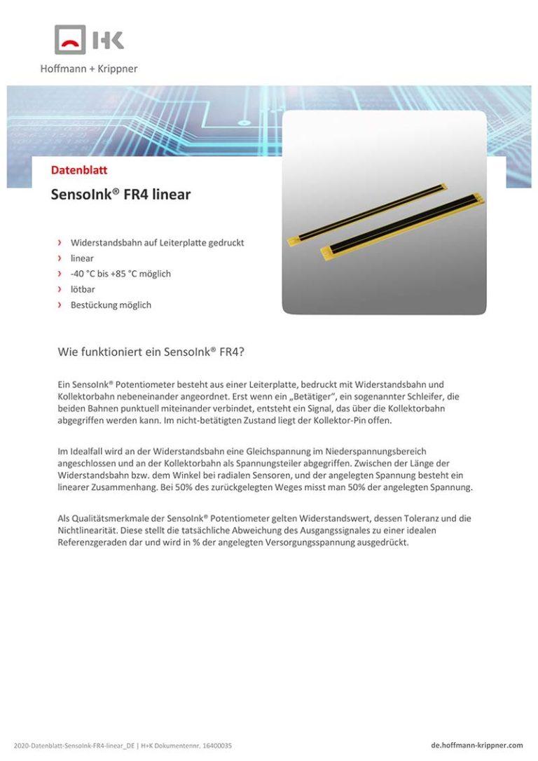 Datenblatt SensoInk FR4 linear