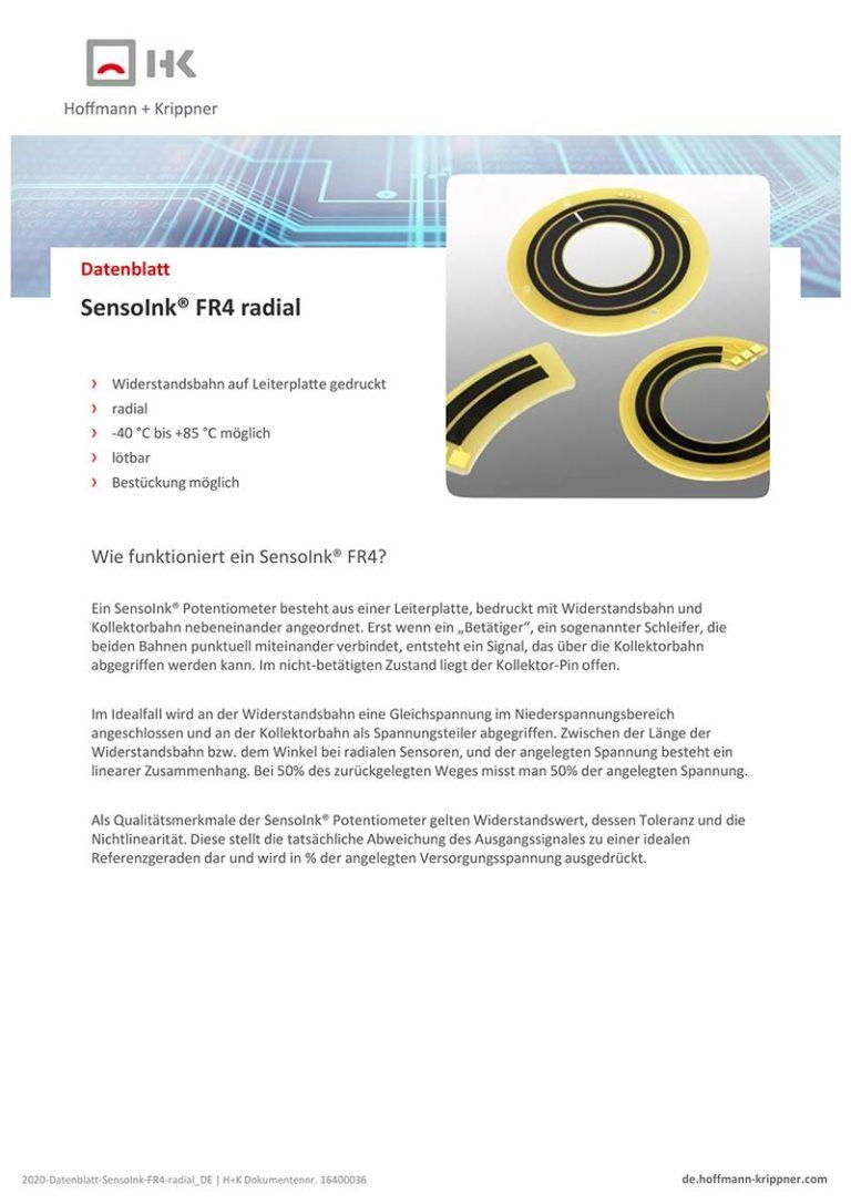 Datenblatt SensoInk FR4 radial