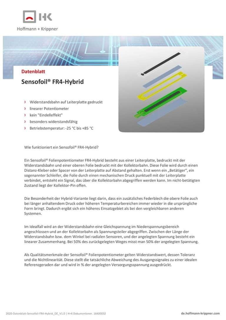 Datenblatt Sensofoil FR4-Hybrid