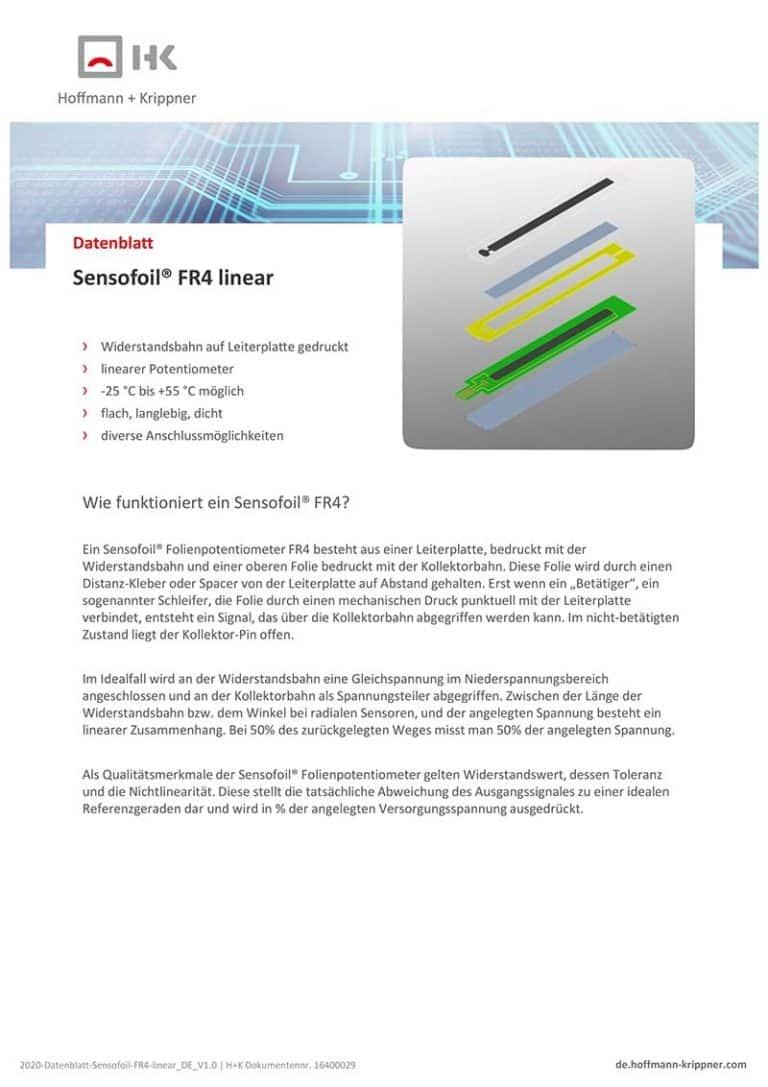 Datenblatt Sensofoil FR4 linear