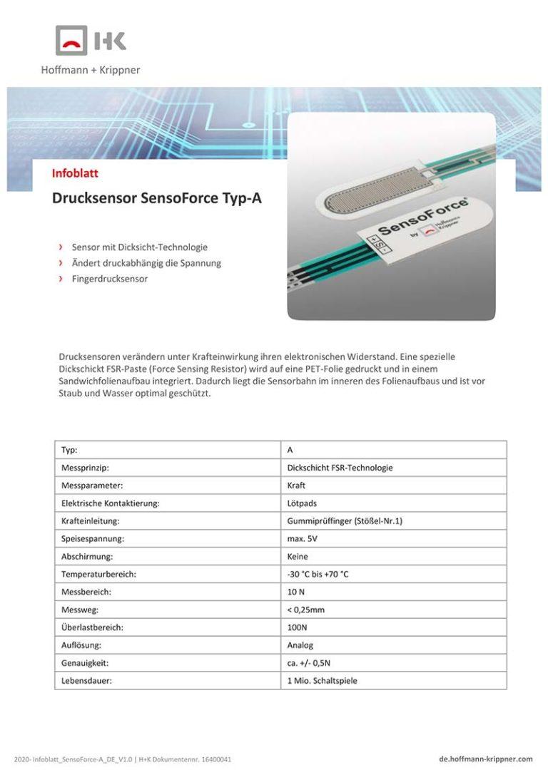 Datenblatt Drucksensor SensoForce