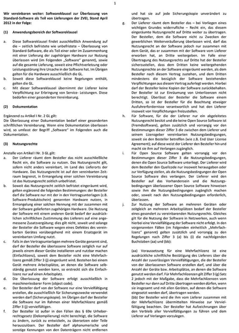 Softwareklausel
