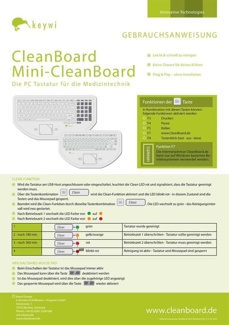 Gebrauchsanweisung CleanBoard
