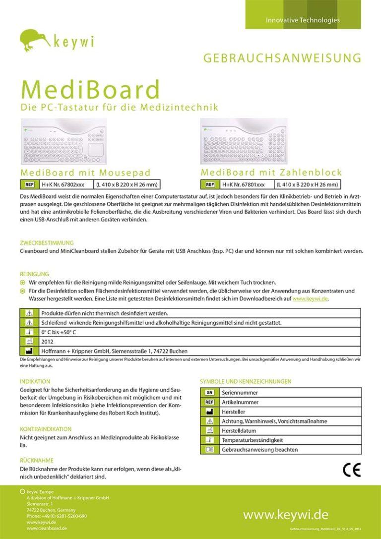 Gebrauchsanweisung MediBoar