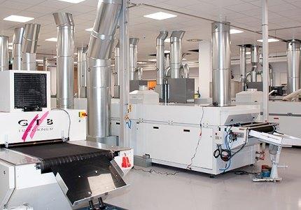 Maschinen in der Siebdruckerei