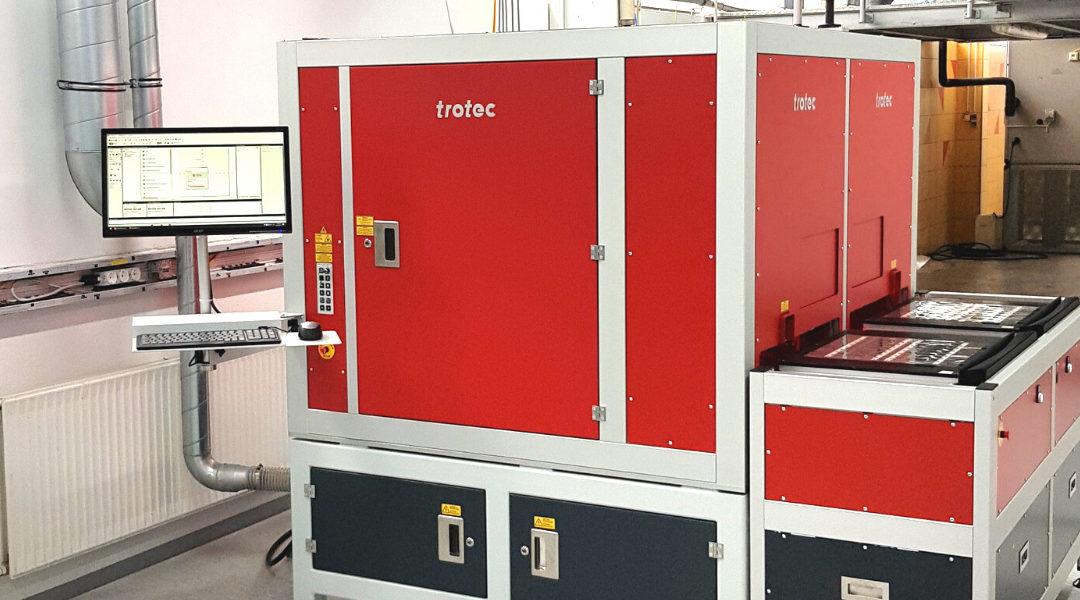 Neuer Trotec-Spiegellaser bei Hoffmann + Krippner